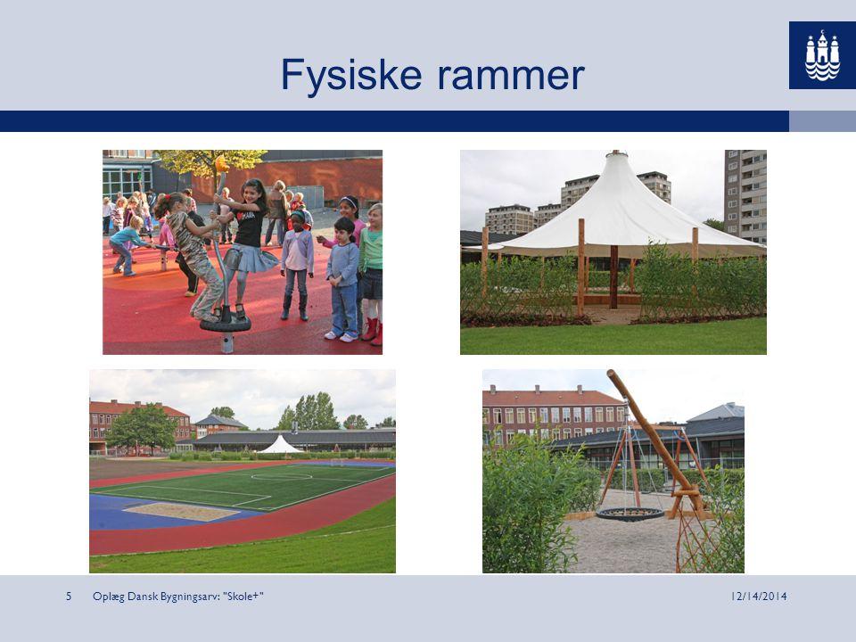 Oplæg Dansk Bygningsarv: Skole+ 512/14/2014 Fysiske rammer