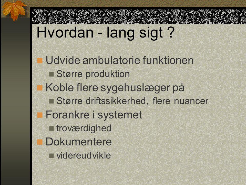 Status Sårsygeplejersker fra 17 af 23 kommuner, i det nuværende Sønderjyllands Amt, er koblet på Alle kommende 4 stor-kommuner er godt repræsenteret 150 patienter er oprettet