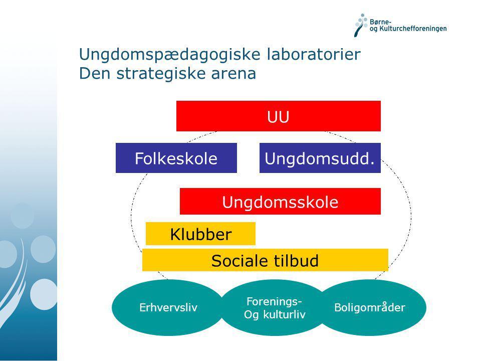 Ungdomspædagogiske laboratorier Den strategiske arena FolkeskoleUngdomsudd.