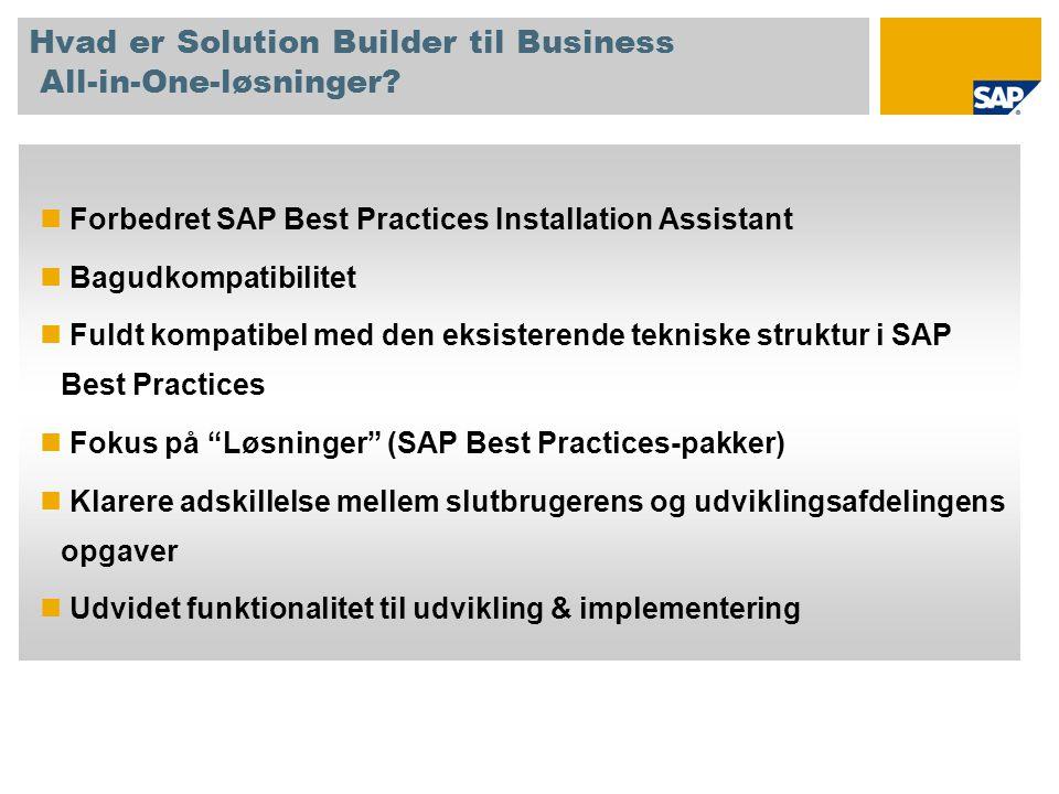 Hvad er Solution Builder til Business All-in-One-løsninger.