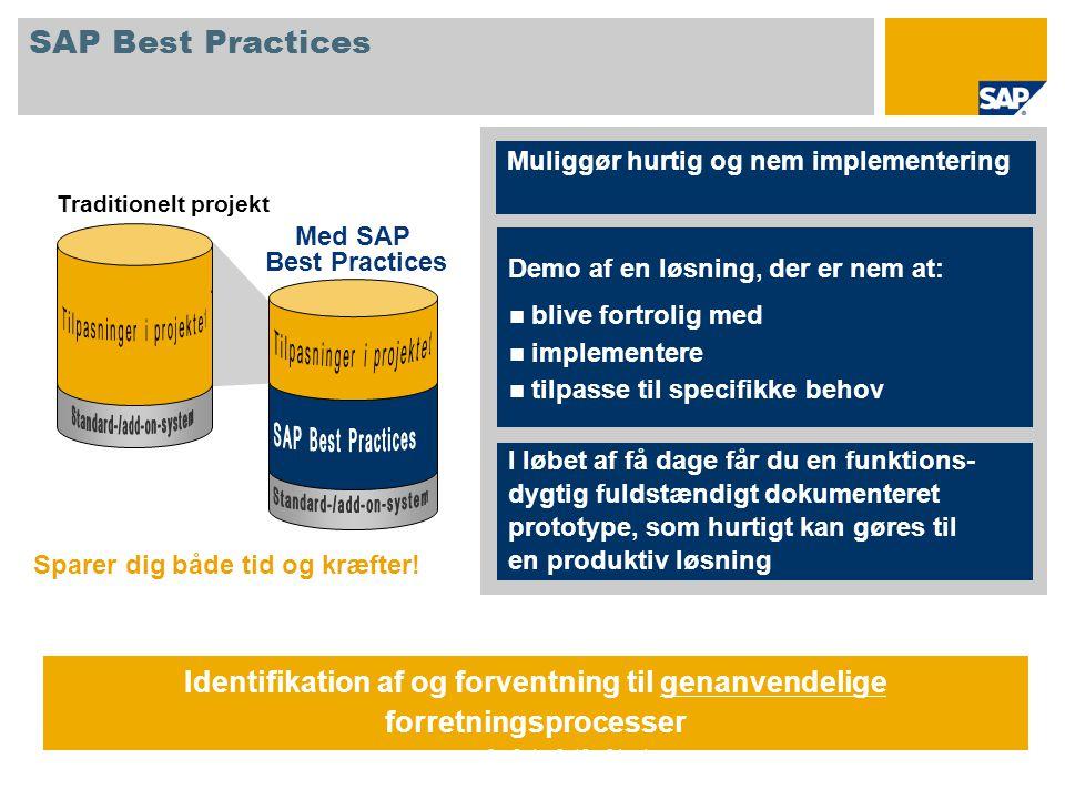 SAP Best Practices Sparer dig både tid og kræfter.