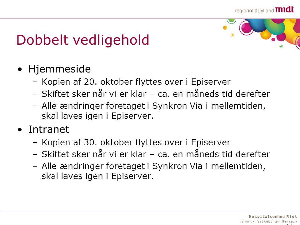 Hospitalsenhed Midt Viborg, Silkeborg, Hammel, Skive Dobbelt vedligehold Hjemmeside –Kopien af 20.