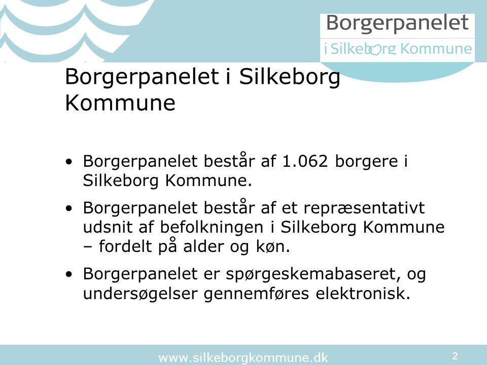 2 www.silkeborgkommune.dk Borgerpanelet i Silkeborg Kommune Borgerpanelet består af 1.062 borgere i Silkeborg Kommune.