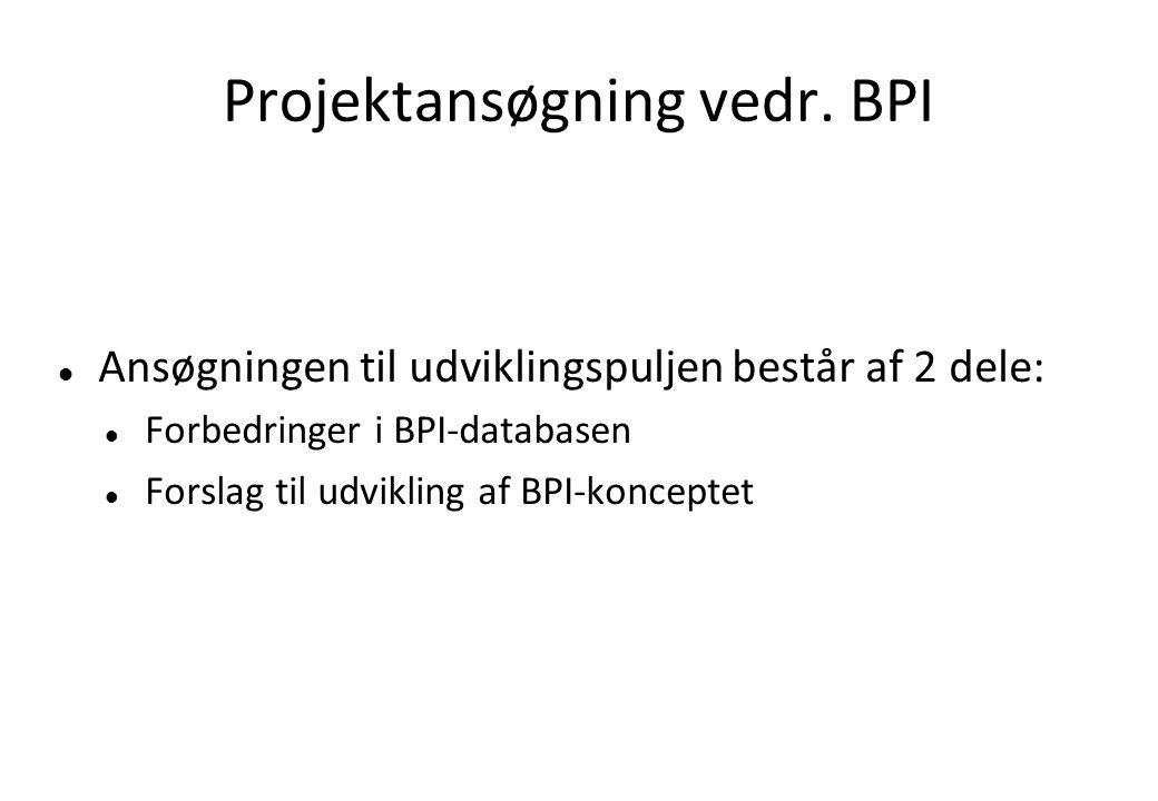 Projektansøgning vedr.