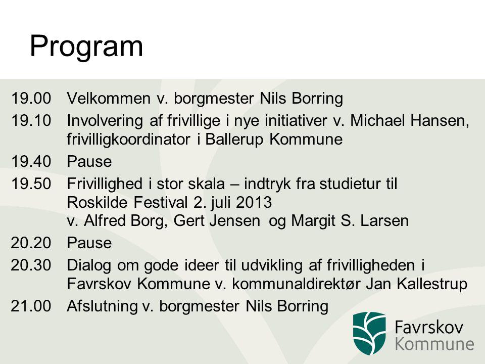 Program 19.00Velkommen v.
