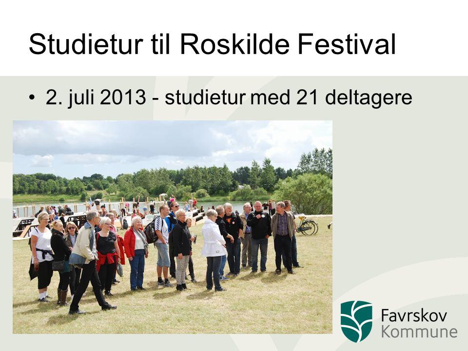 Studietur til Roskilde Festival 2. juli 2013 - studietur med 21 deltagere