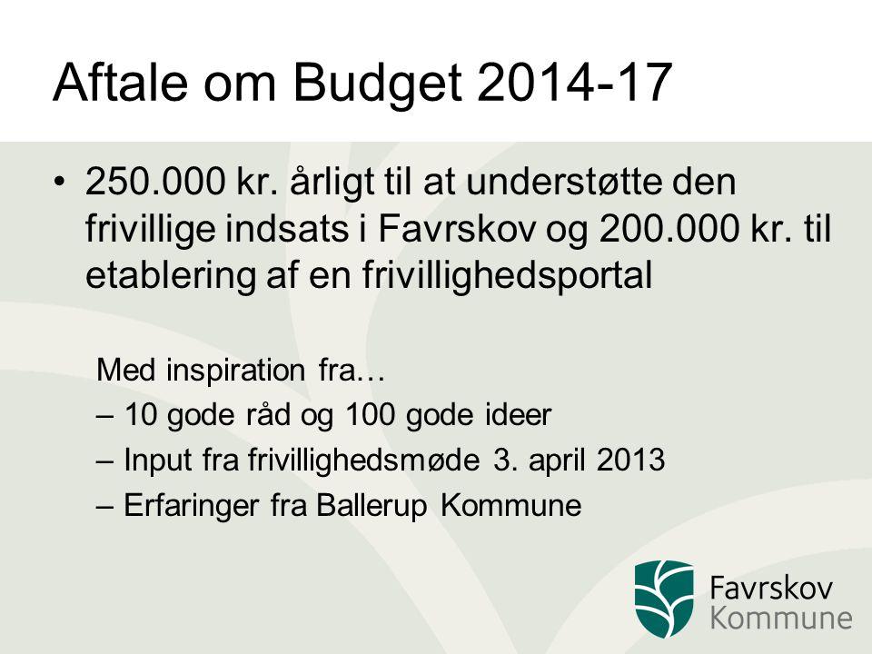 Aftale om Budget 2014-17 250.000 kr.