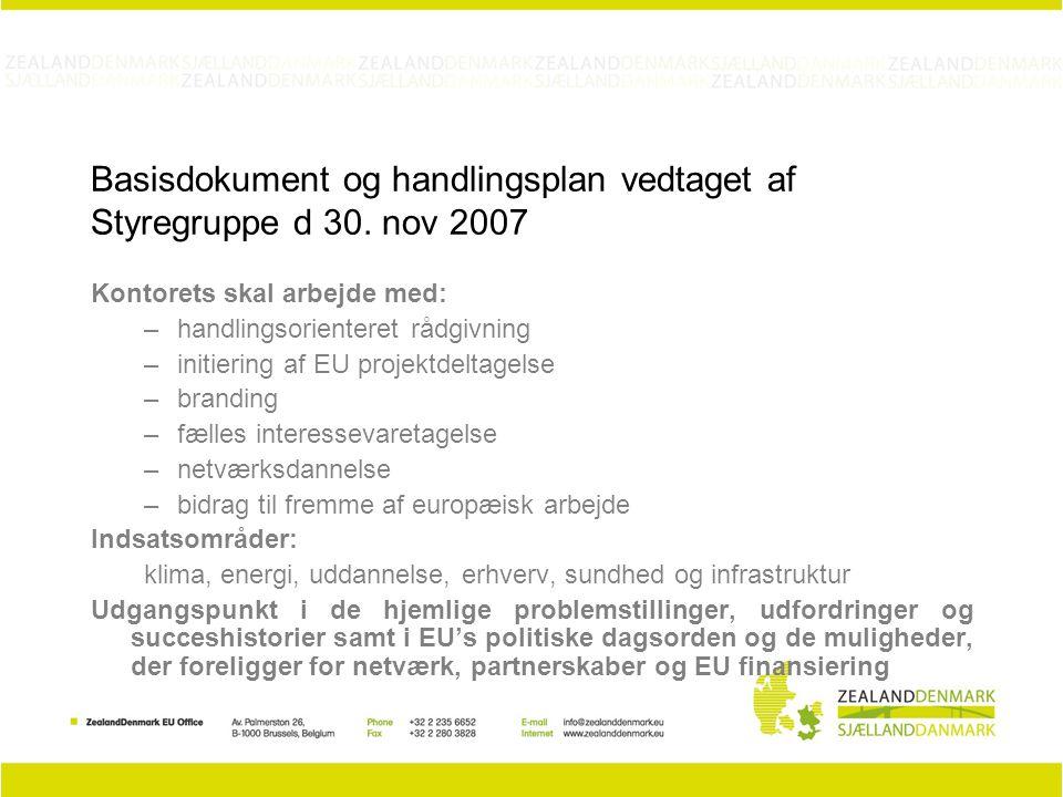Basisdokument og handlingsplan vedtaget af Styregruppe d 30.