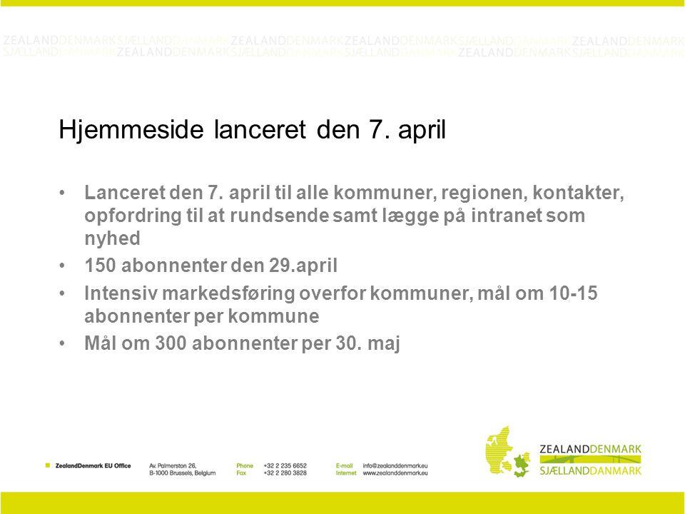 Hjemmeside lanceret den 7. april Lanceret den 7.