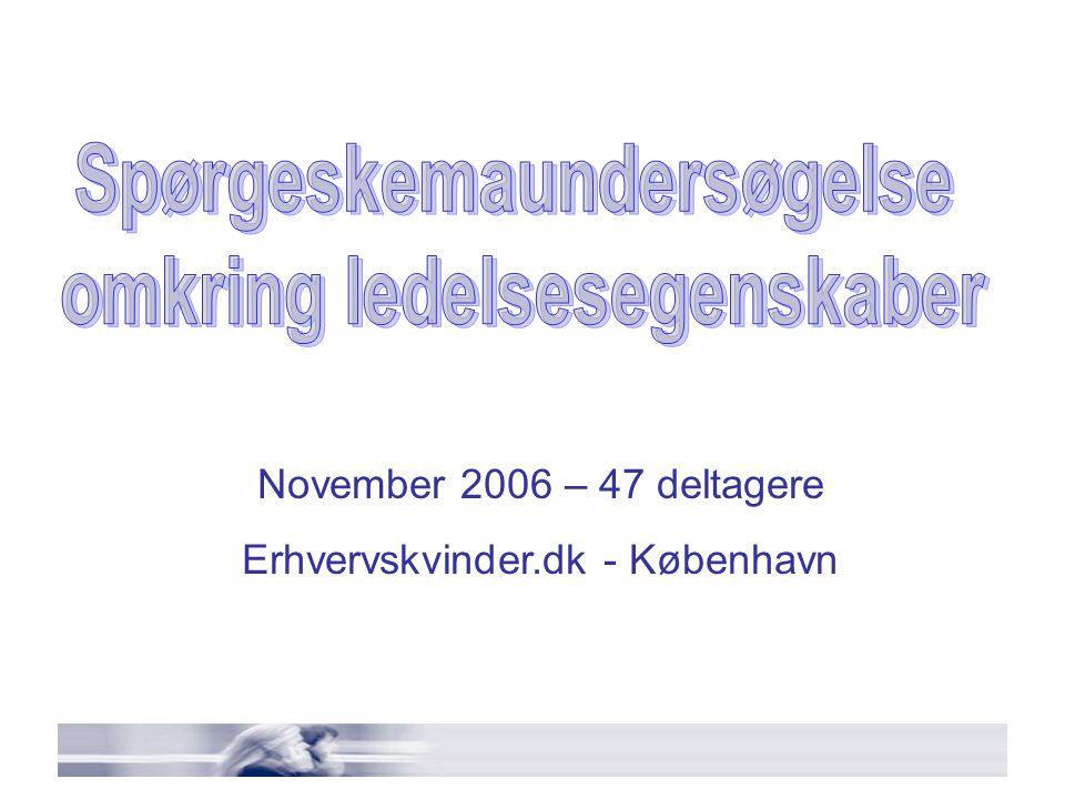 November 2006 – 47 deltagere Erhvervskvinder.dk - København