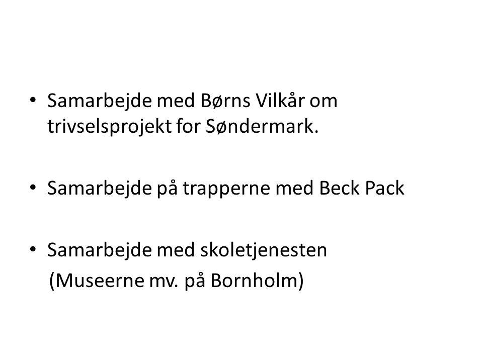 Samarbejde med Børns Vilkår om trivselsprojekt for Søndermark.