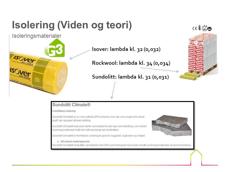 Isover: lambda kl.32 (0,032) Rockwool: lambda kl.
