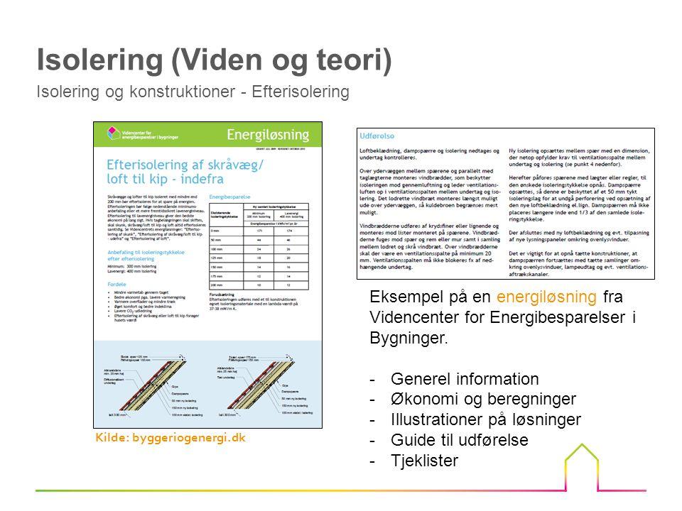 Eksempel på en energiløsning fra Videncenter for Energibesparelser i Bygninger.