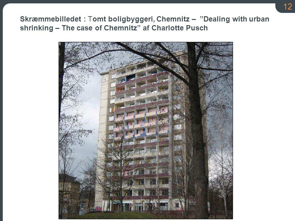 12 Skræmmebilledet : Tomt boligbyggeri, Chemnitz – Dealing with urban shrinking – The case of Chemnitz af Charlotte Pusch