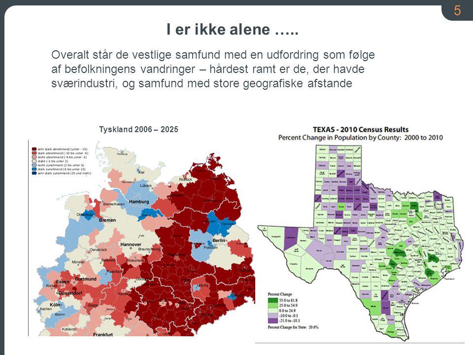 5 Tyskland 2006 – 2025 Overalt står de vestlige samfund med en udfordring som følge af befolkningens vandringer – hårdest ramt er de, der havde sværindustri, og samfund med store geografiske afstande I er ikke alene …..
