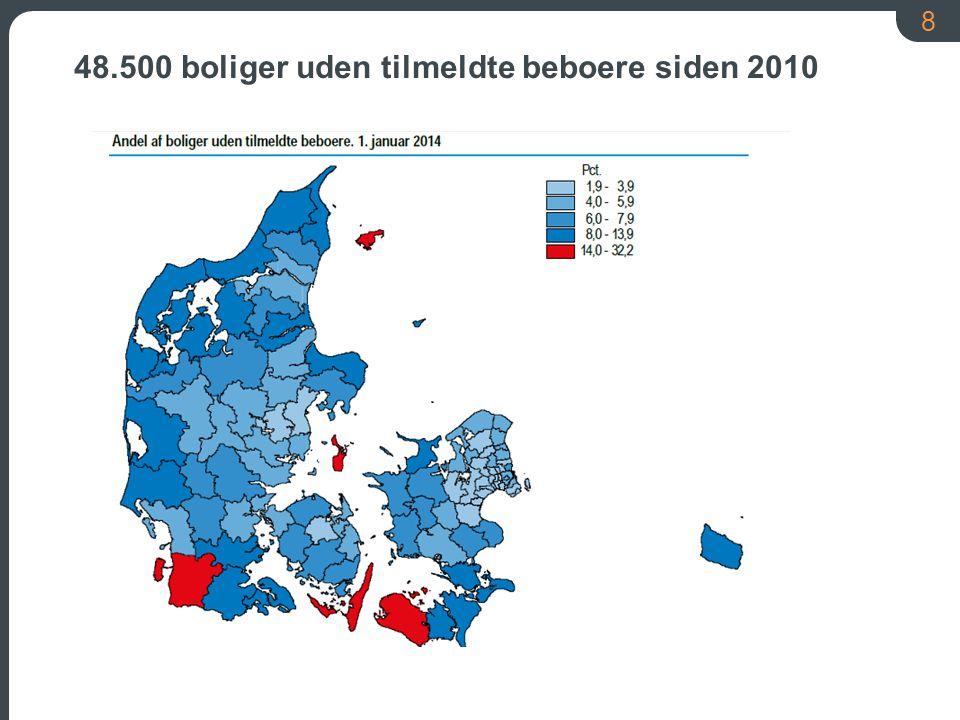 8 48.500 boliger uden tilmeldte beboere siden 2010