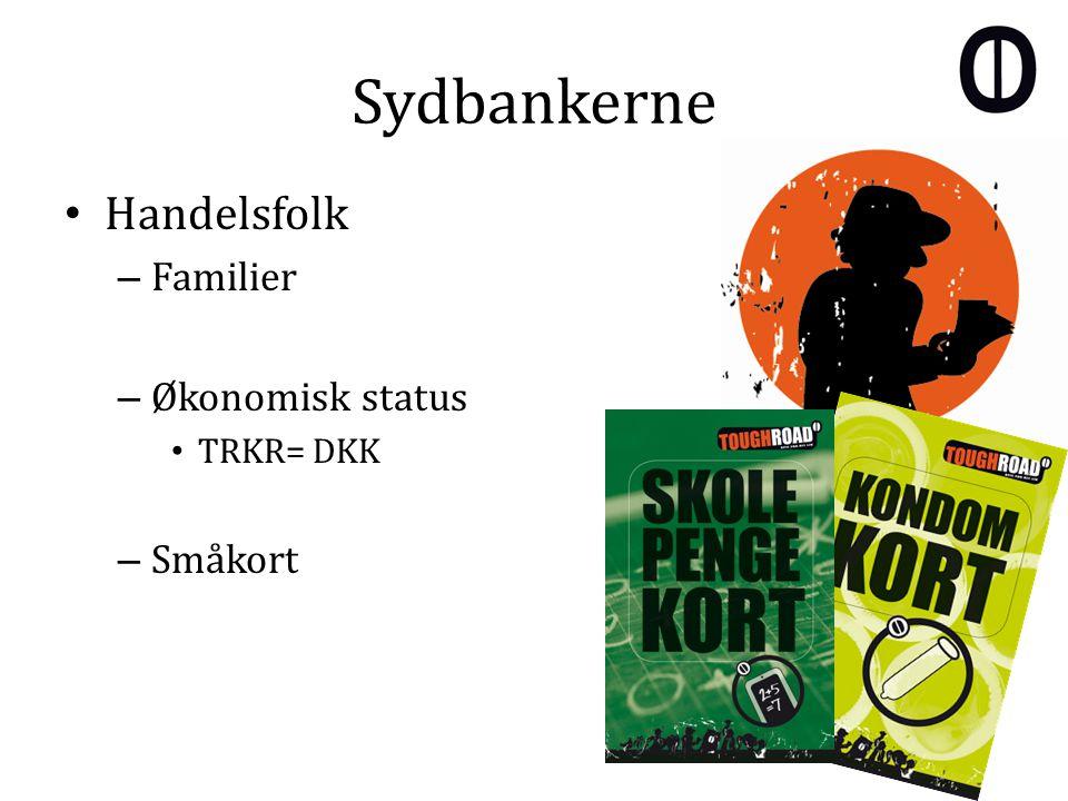 Sydbankerne Handelsfolk – Familier – Økonomisk status TRKR= DKK – Småkort