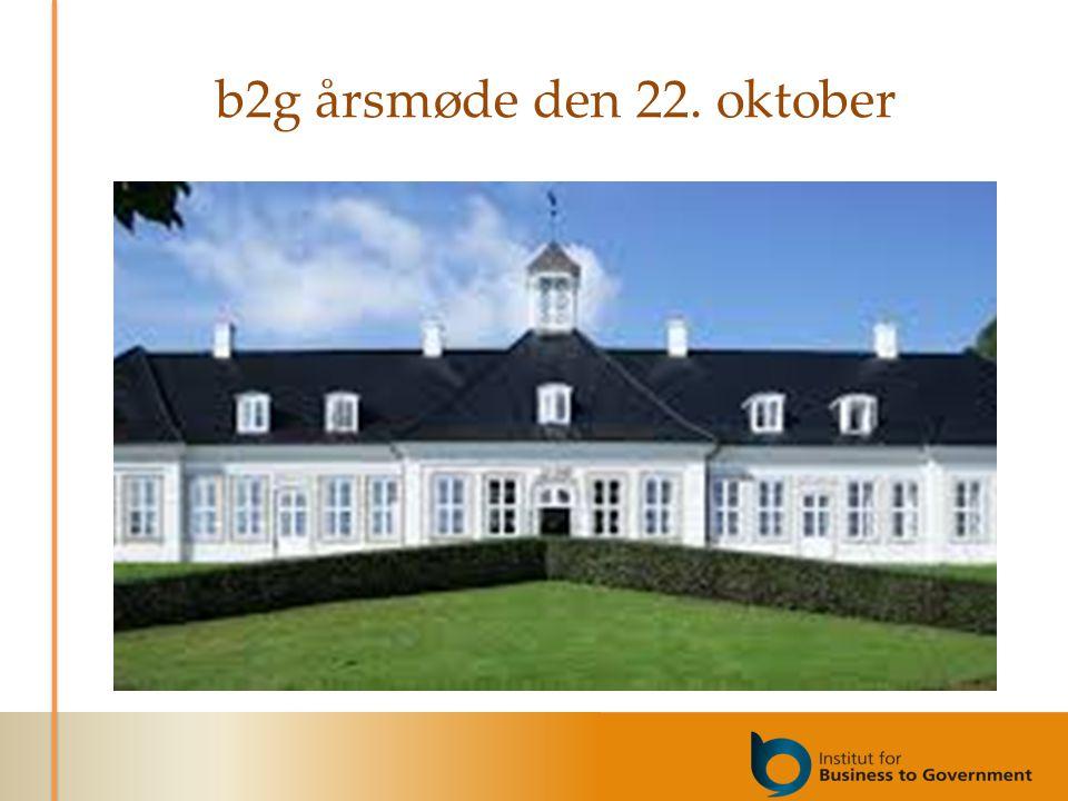 b2g årsmøde den 22. oktober
