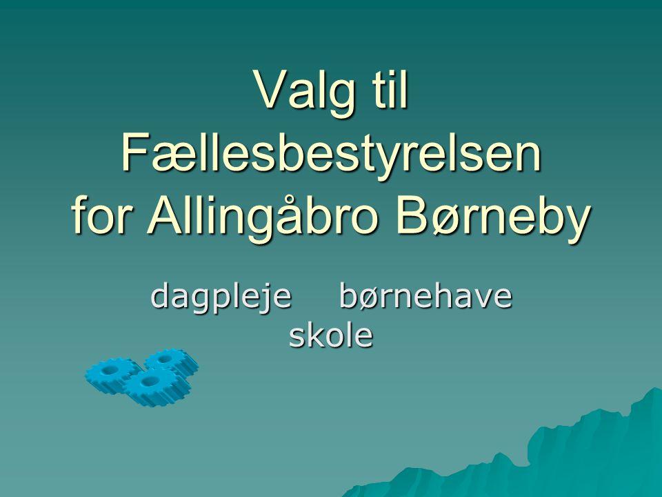 Valg til Fællesbestyrelsen for Allingåbro Børneby dagpleje børnehave skole