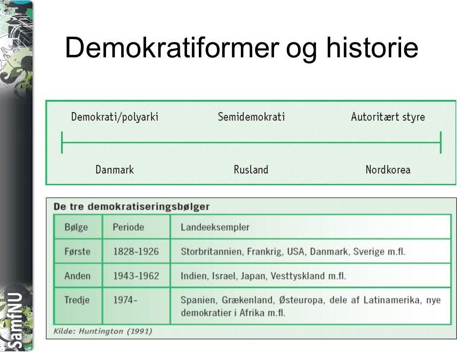 SAMFNU Demokratiformer og historie
