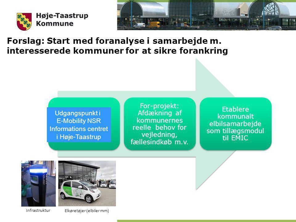 Tage udgangspunkt i EMIC For-projekt: Afdækning af kommunernes reelle behov for vejledning, fællesindkøb m.v.