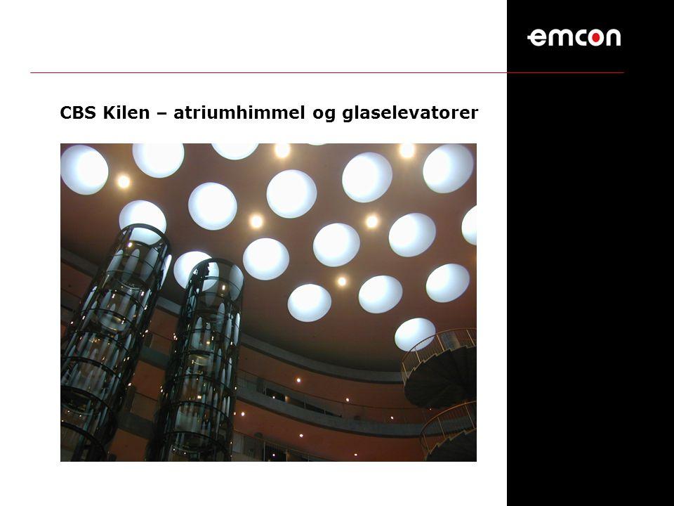CBS Kilen – atriumhimmel og glaselevatorer