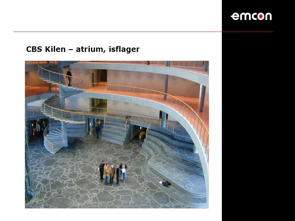 CBS Kilen – atrium, isflager
