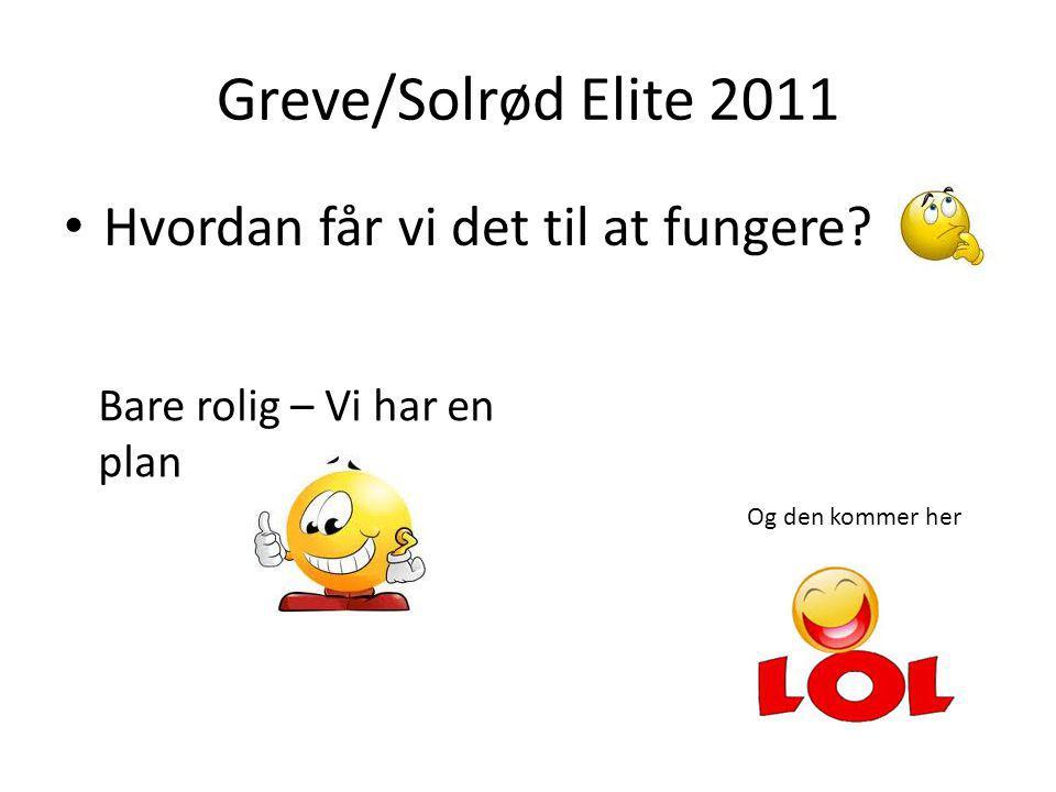 Greve/Solrød Elite 2011 Hvordan får vi det til at fungere.