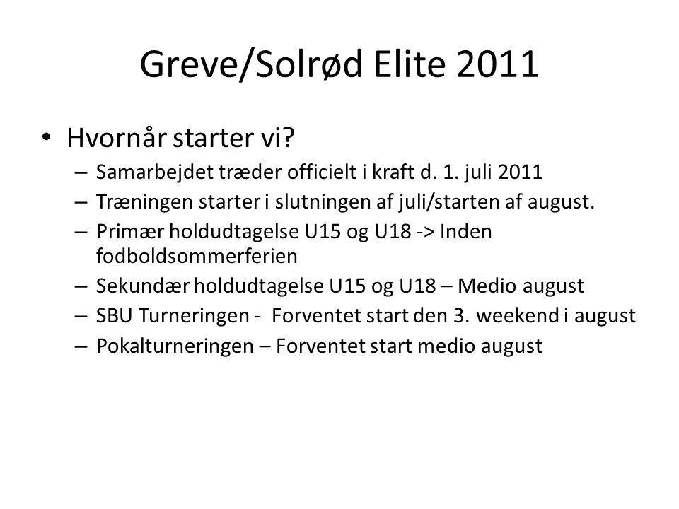 Greve/Solrød Elite 2011 Hvornår starter vi. – Samarbejdet træder officielt i kraft d.