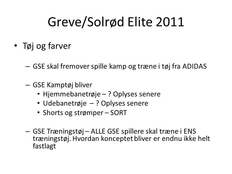 Greve/Solrød Elite 2011 Tøj og farver – GSE skal fremover spille kamp og træne i tøj fra ADIDAS – GSE Kamptøj bliver Hjemmebanetrøje – .
