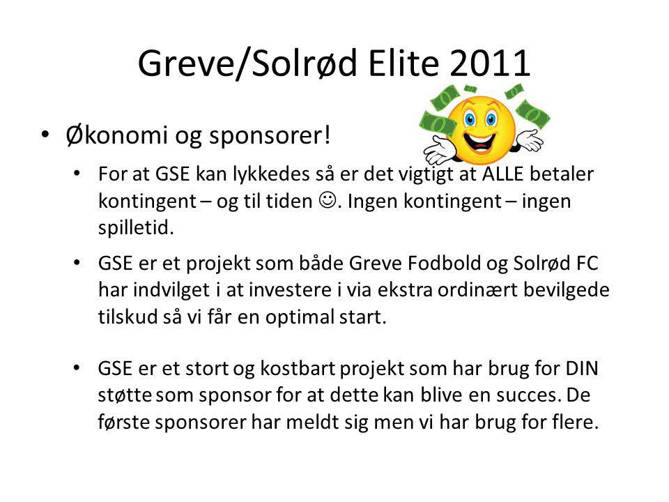Greve/Solrød Elite 2011 Økonomi og sponsorer.