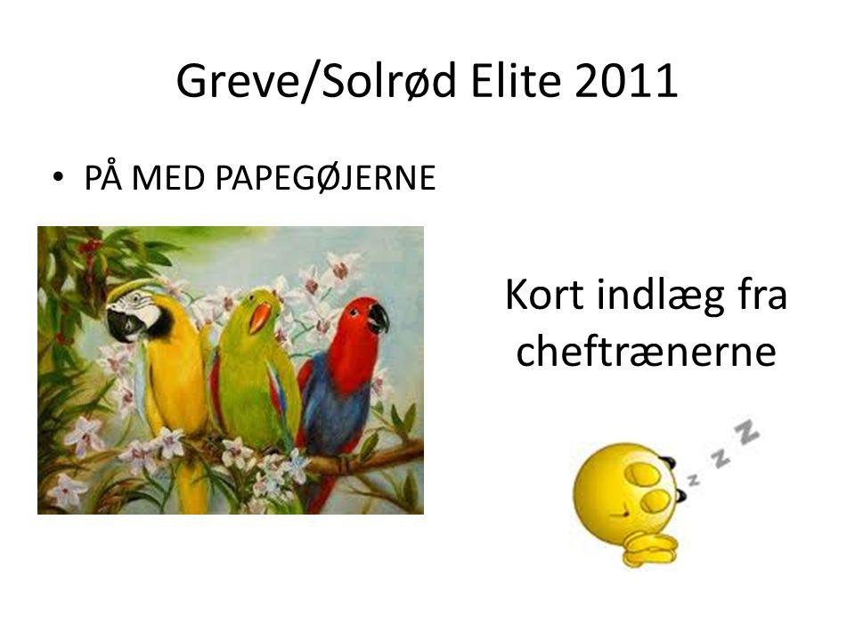 Greve/Solrød Elite 2011 PÅ MED PAPEGØJERNE Kort indlæg fra cheftrænerne