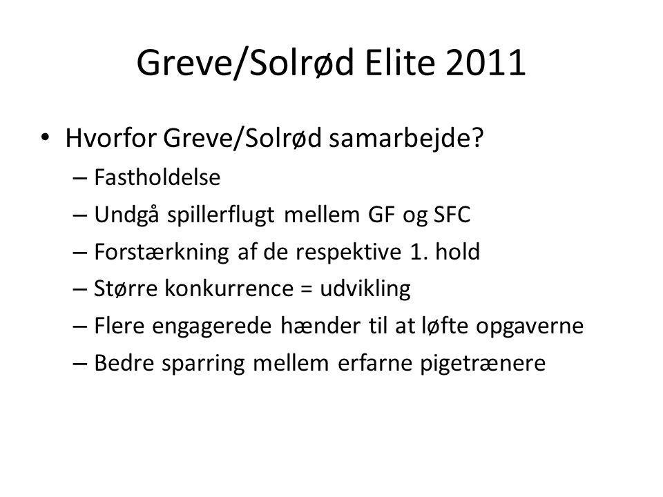 Greve/Solrød Elite 2011 Hvorfor Greve/Solrød samarbejde.