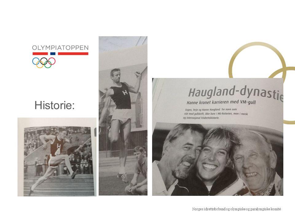 Norges idrettsforbund og olympiske og paralympiske komité Historie:
