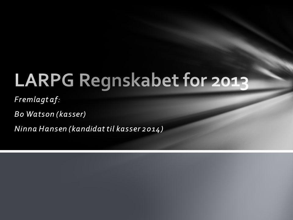 Fremlagt af: Bo Watson (kasser) Ninna Hansen (kandidat til kasser 2014)