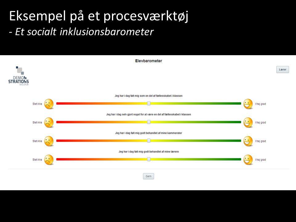 Eksempel på et procesværktøj - Et socialt inklusionsbarometer