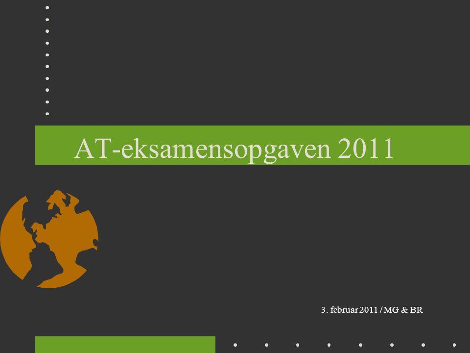 AT-eksamensopgaven 2011 3. februar 2011 / MG & BR