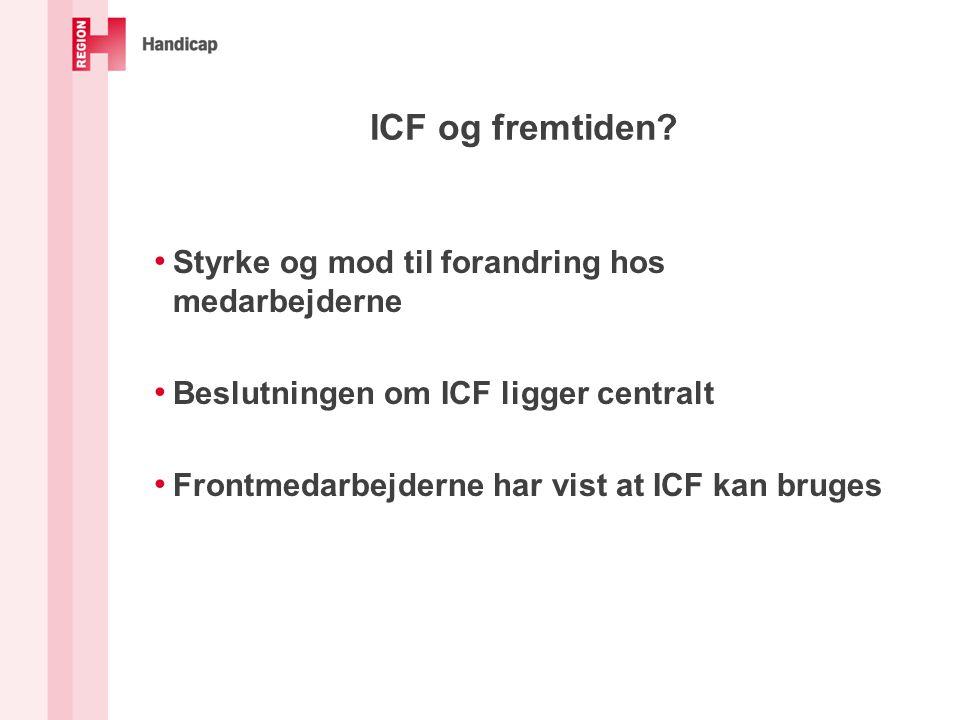 ICF og fremtiden.