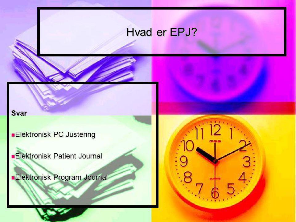 Hvad er EPJ.