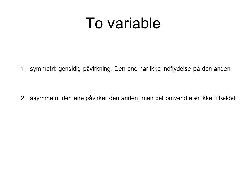 To variable 1.symmetri: gensidig påvirkning.