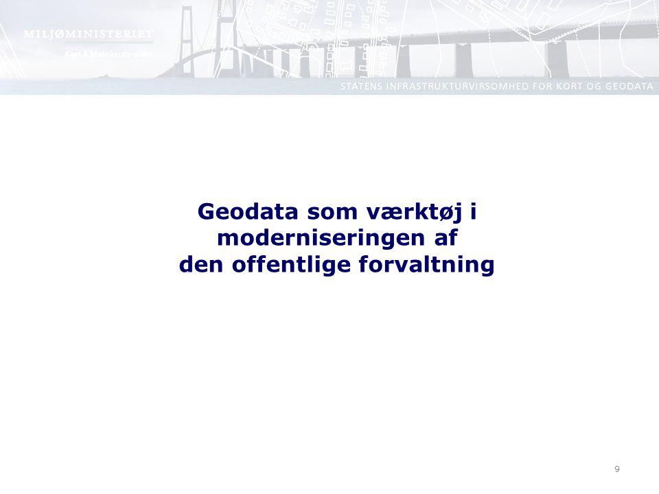 9 Geodata som værktøj i moderniseringen af den offentlige forvaltning