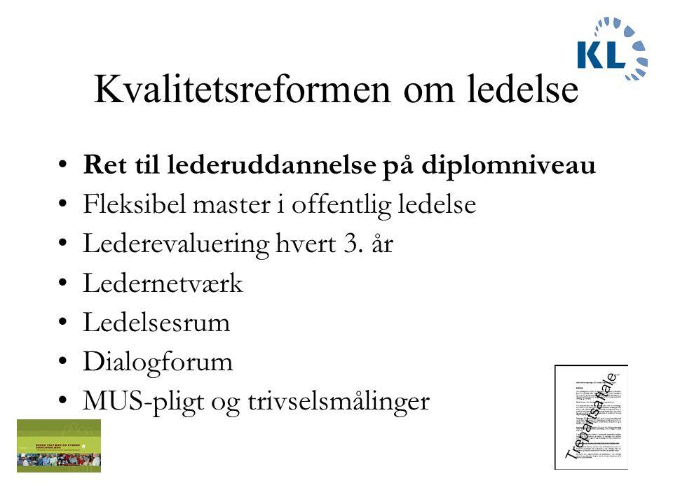 Fra 180 forslag til –Kvalitetsreform i 4 pakker - Trepartsaftale - Kvalitetsfond - Velfærdsløft - Afbureaukratiseringsreform En ledelsesreform.