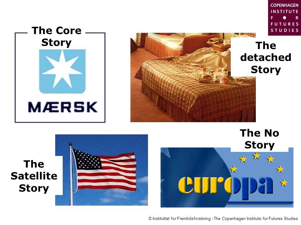 © Instituttet for Fremtidsforskning - The Copenhagen Institute for Futures Studies The Core Story The Satellite Story The No Story The detached Story