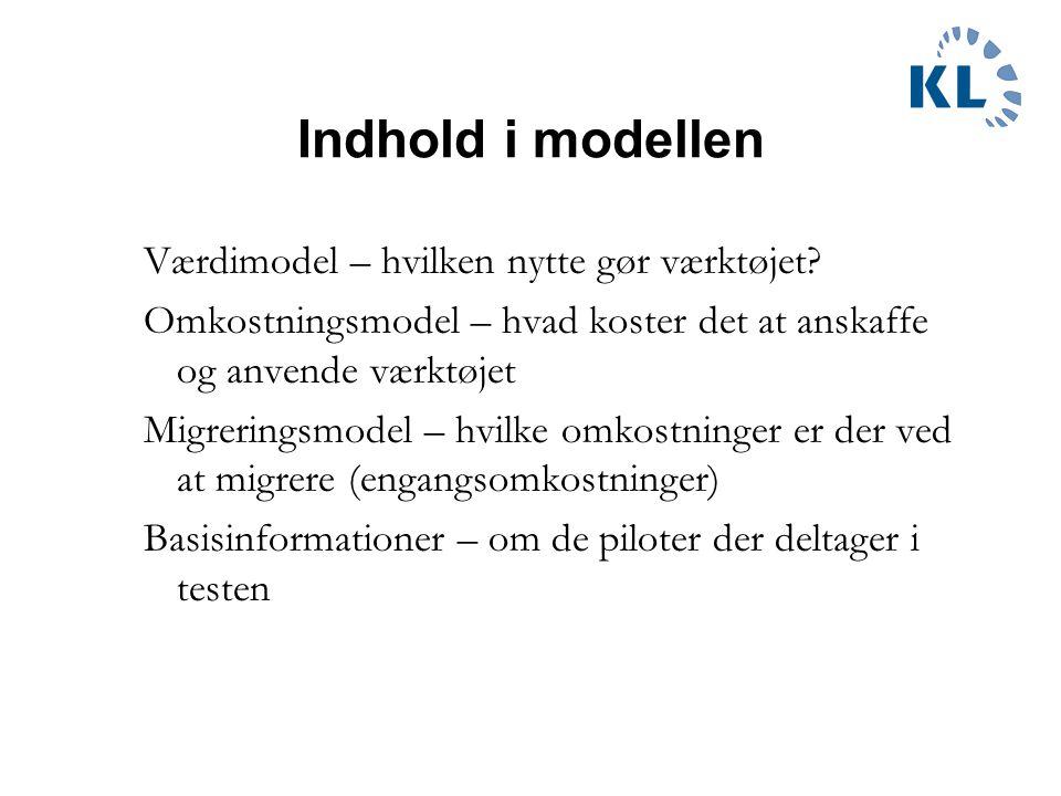 Indhold i modellen Værdimodel – hvilken nytte gør værktøjet.