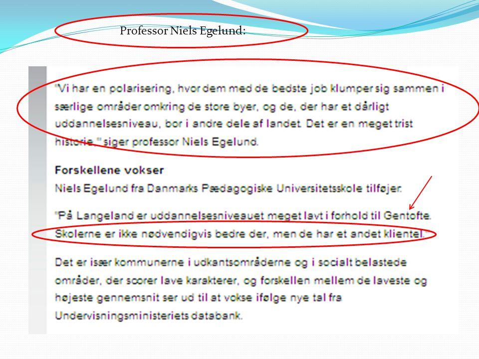 Professor Niels Egelund: