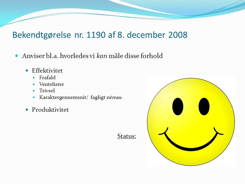 Bekendtgørelse nr. 1190 af 8. december 2008 Anviser bl.a.