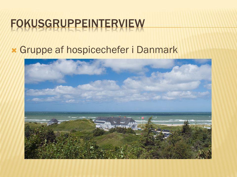  Gruppe af hospicechefer i Danmark