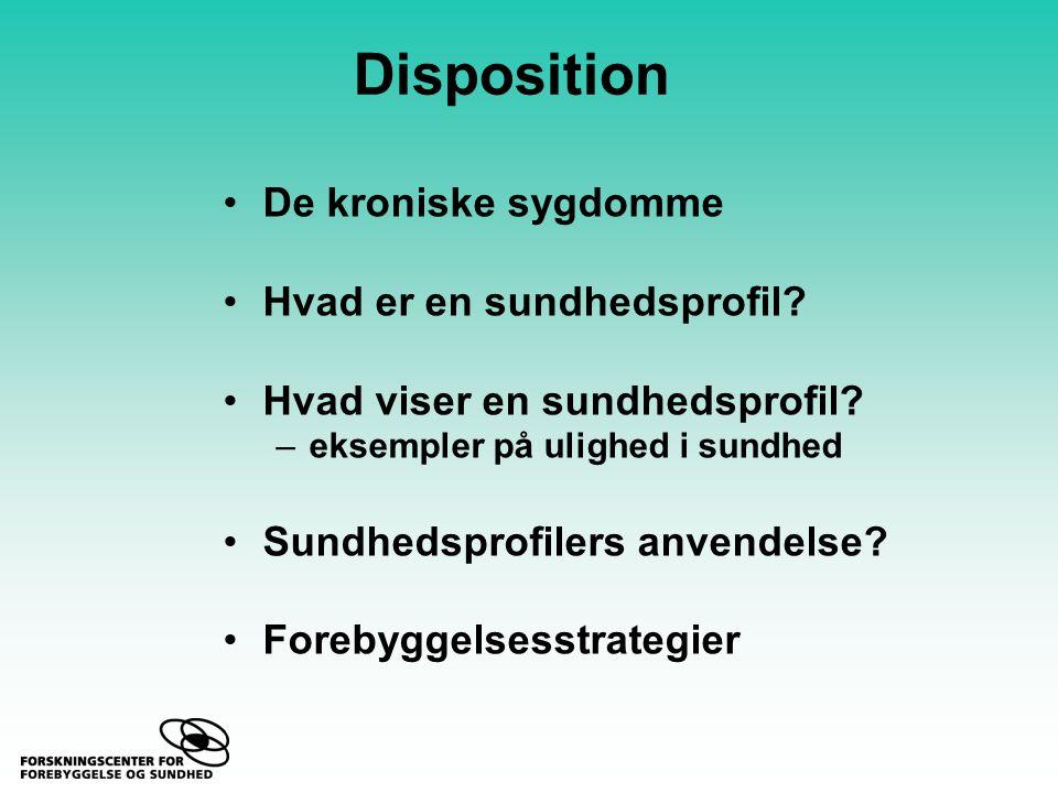 Disposition De kroniske sygdomme Hvad er en sundhedsprofil.