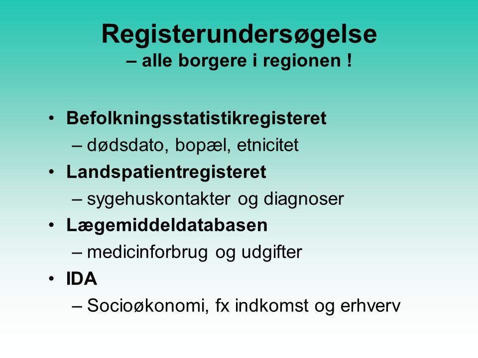 Registerundersøgelse – alle borgere i regionen .