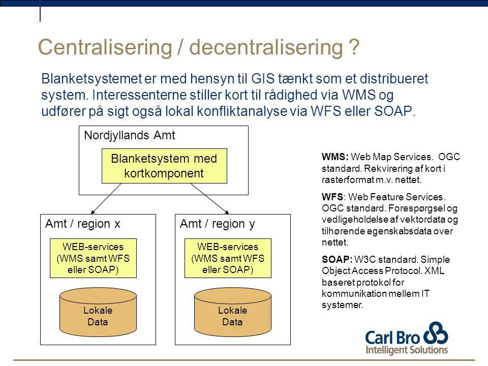 Centralisering / decentralisering .